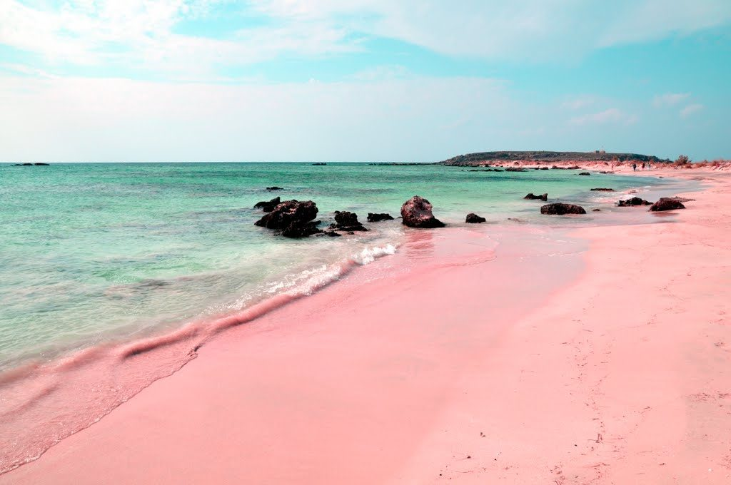 pink sand beach harbour islands bahamas