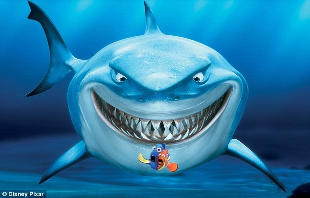 bruce smiling shark finding nemo